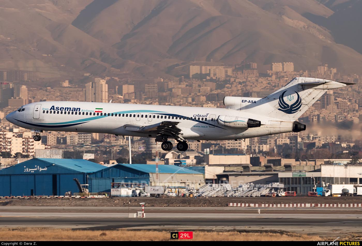 Iran Aseman EP-ASA aircraft at Tehran - Mehrabad Intl