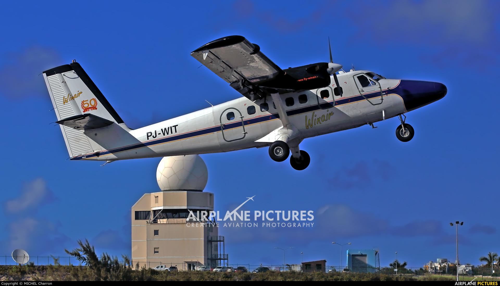 Winair PJ-WIT aircraft at Sint Maarten - Princess Juliana Intl