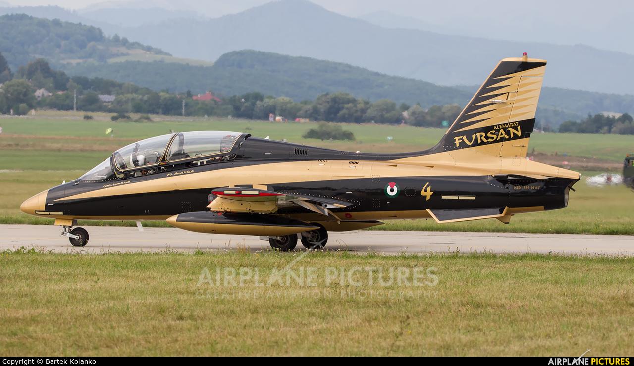 "United Arab Emirates - Air Force ""Al Fursan"" 430 aircraft at Sliač"