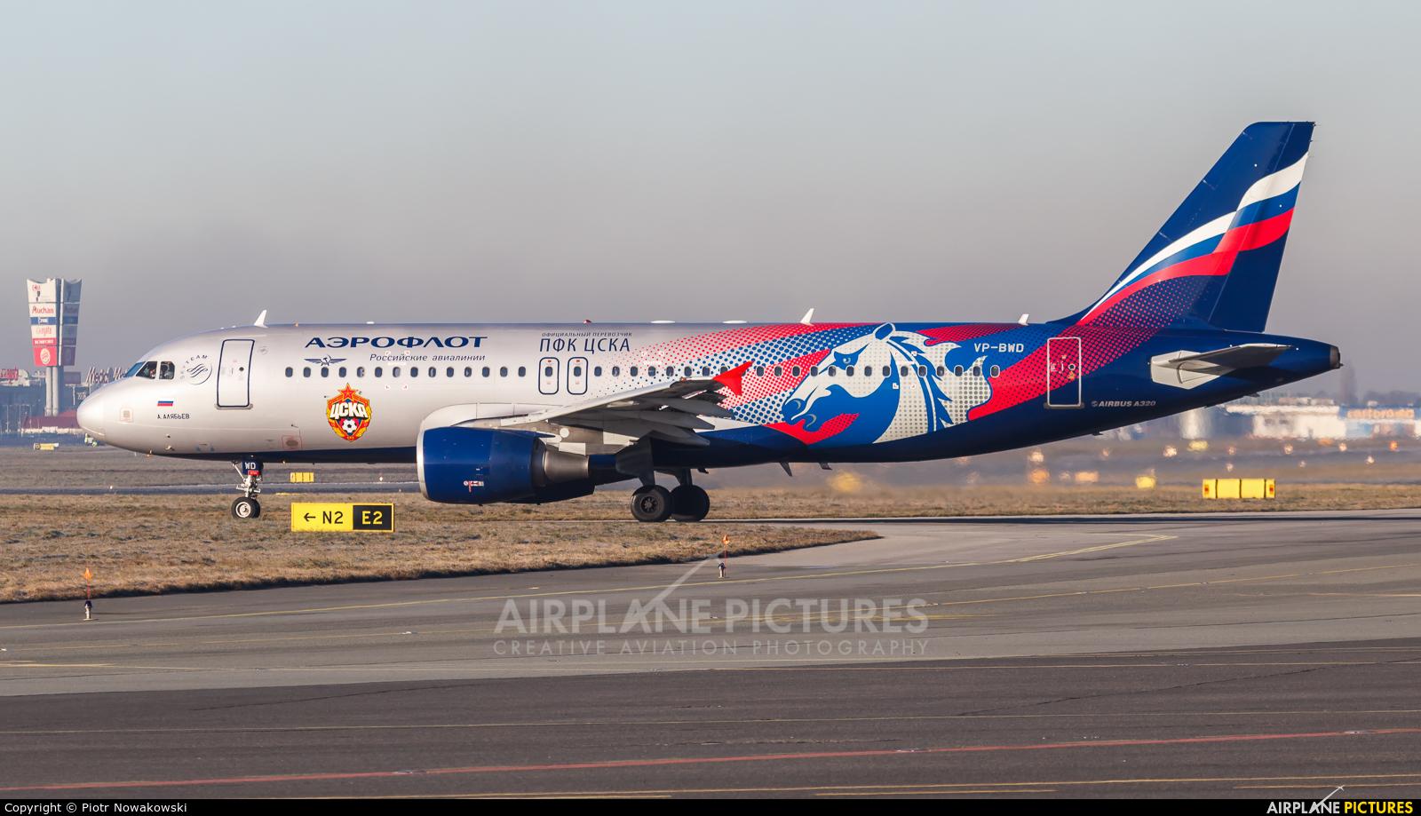 Aeroflot VP-BWD aircraft at Warsaw - Frederic Chopin