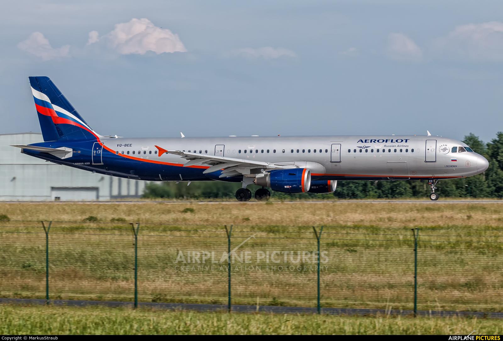 Aeroflot VQ-BEE aircraft at Dresden