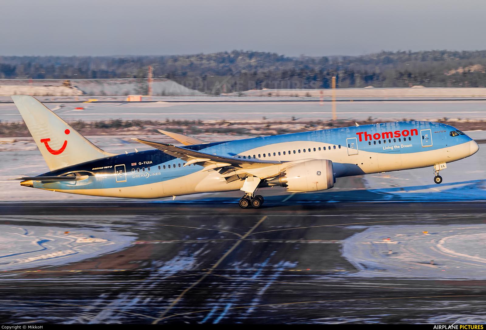 Thomson/Thomsonfly G-TUIA aircraft at Helsinki - Vantaa
