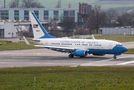 USAF Boeing C-40 Clipper arrived to Zurich with security delegation onboard