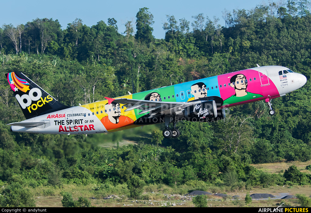 AirAsia (Malaysia) 9M-AFD aircraft at Phuket