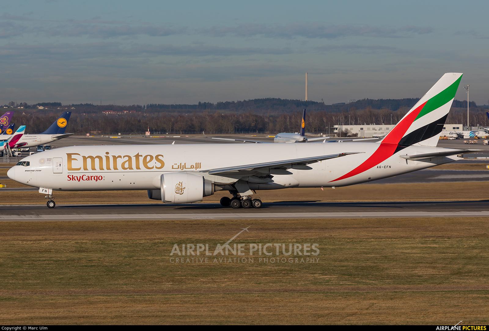 Emirates Sky Cargo A6-EFN aircraft at Munich