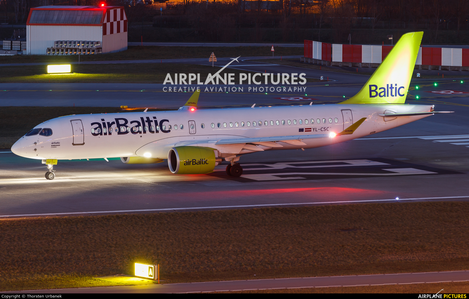 Air Baltic YL-CSC aircraft at Zurich