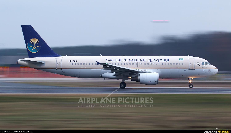 Saudi Arabian Airlines HZ-ASC aircraft at Frankfurt