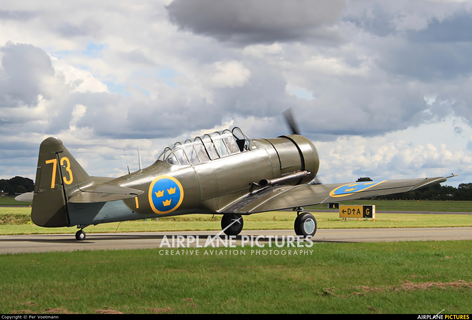 Swedish Air Force Historic Flight SE-FVU aircraft at Copenhagen Roskilde