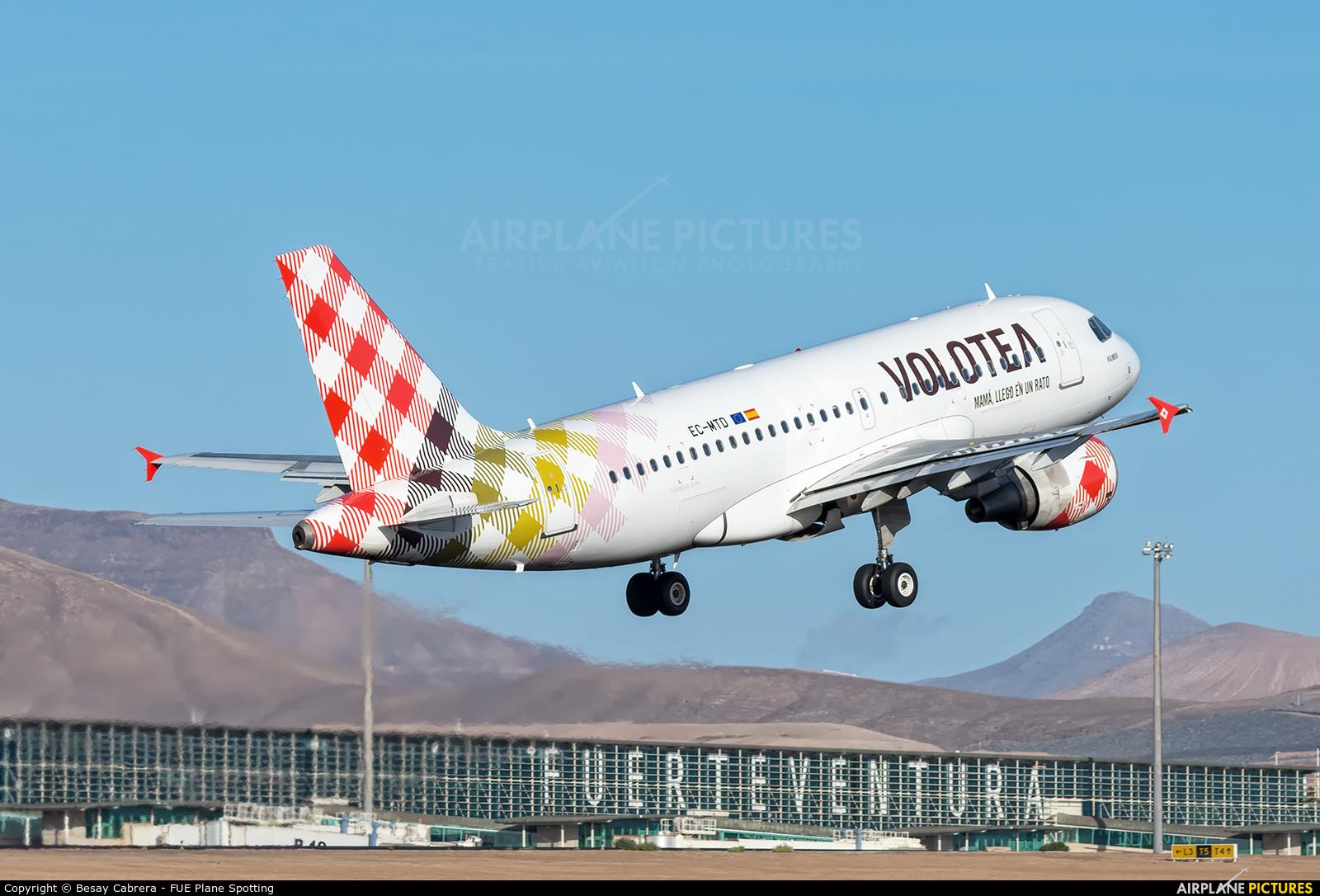 Volotea Airlines EC-MTD aircraft at Fuerteventura - Puerto del Rosario