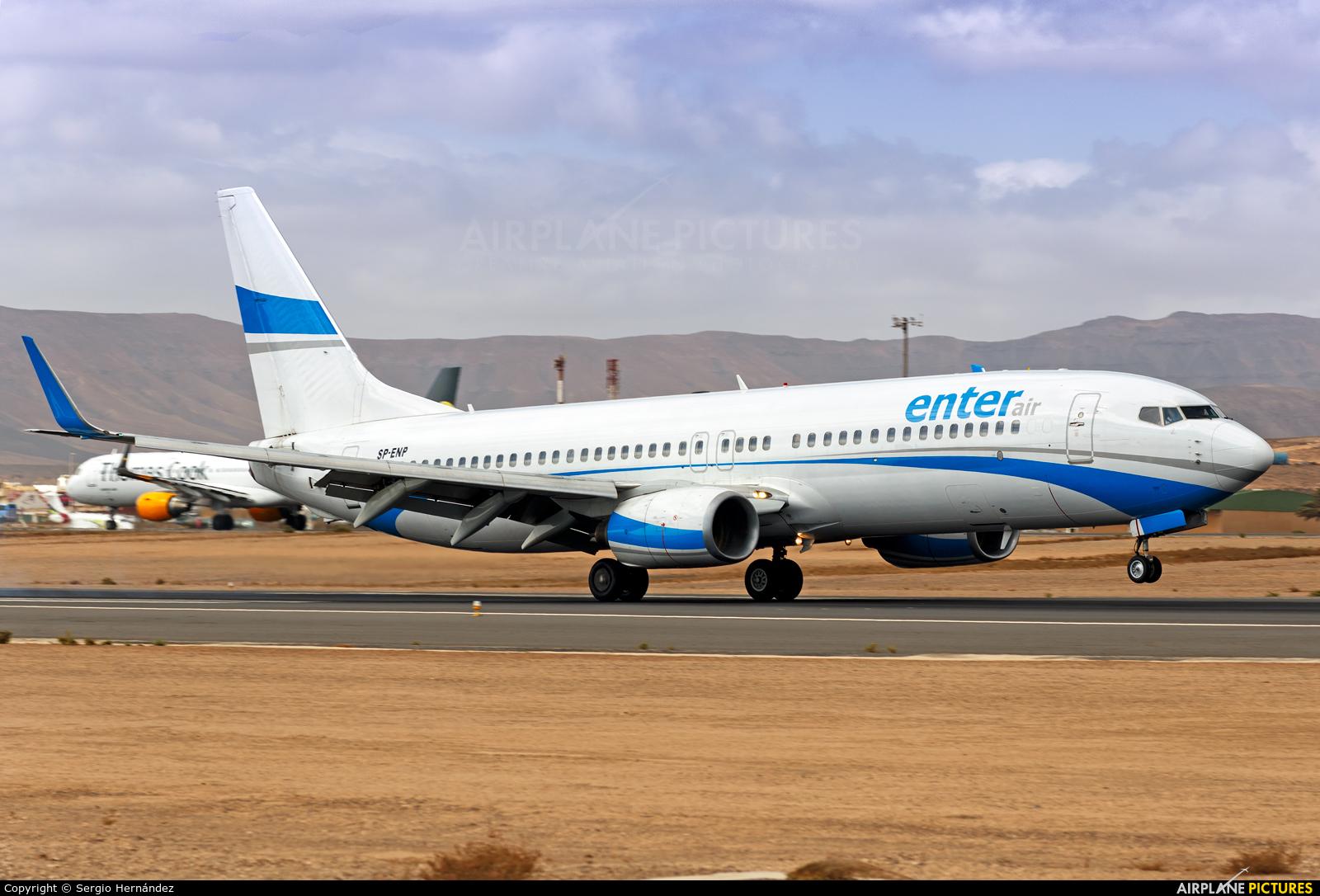 Enter Air SP-ENP aircraft at Fuerteventura - Puerto del Rosario