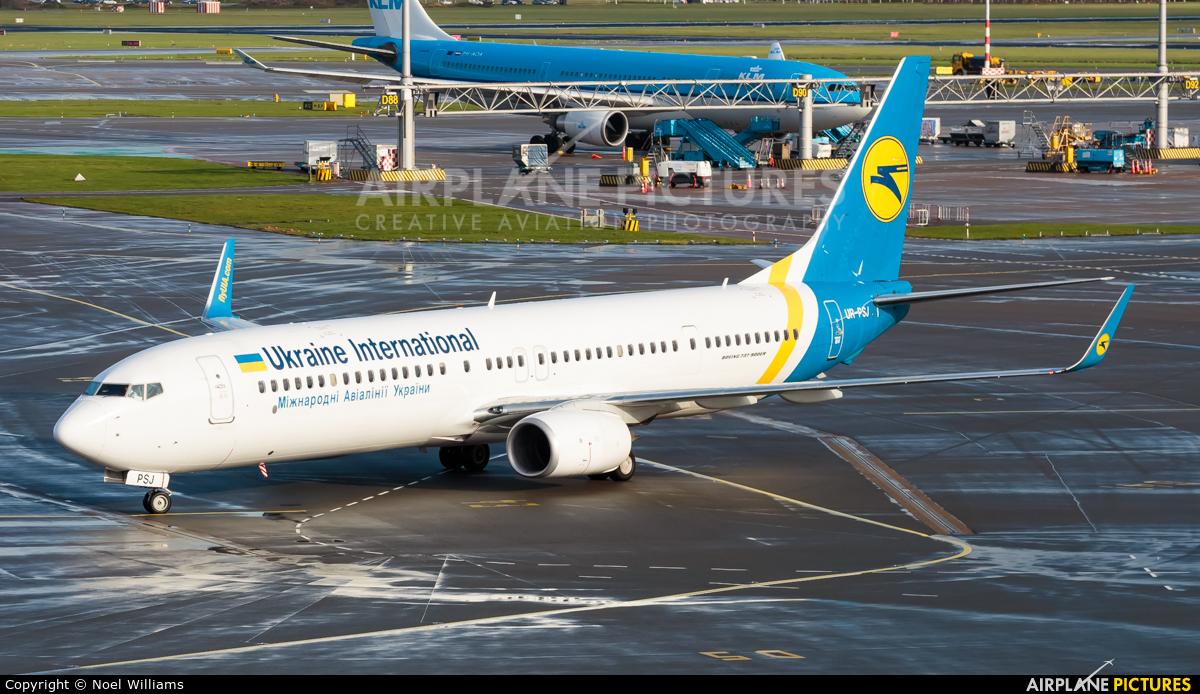 Ukraine International Airlines UR-PSJ aircraft at Amsterdam - Schiphol