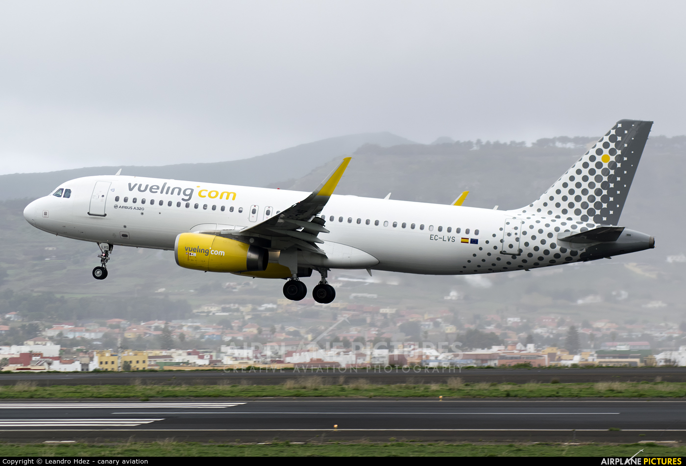 Vueling Airlines EC-LVS aircraft at Tenerife Norte - Los Rodeos