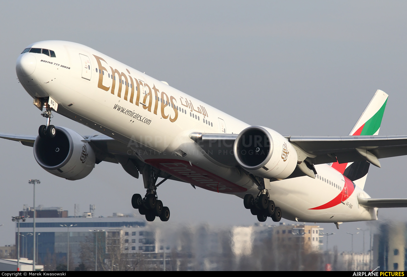 Emirates Airlines A6-ENG aircraft at Warsaw - Frederic Chopin