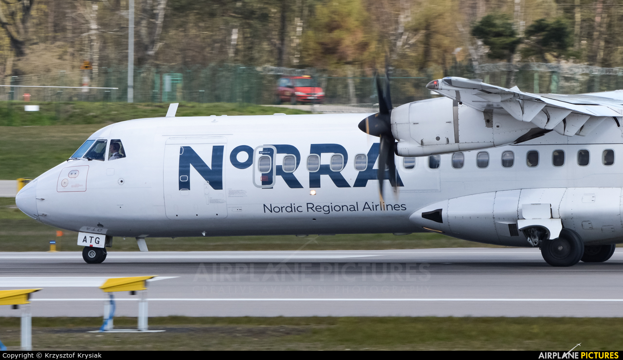 NoRRA - Nordic Regional Airlines OH-ATG aircraft at Gdańsk - Lech Wałęsa