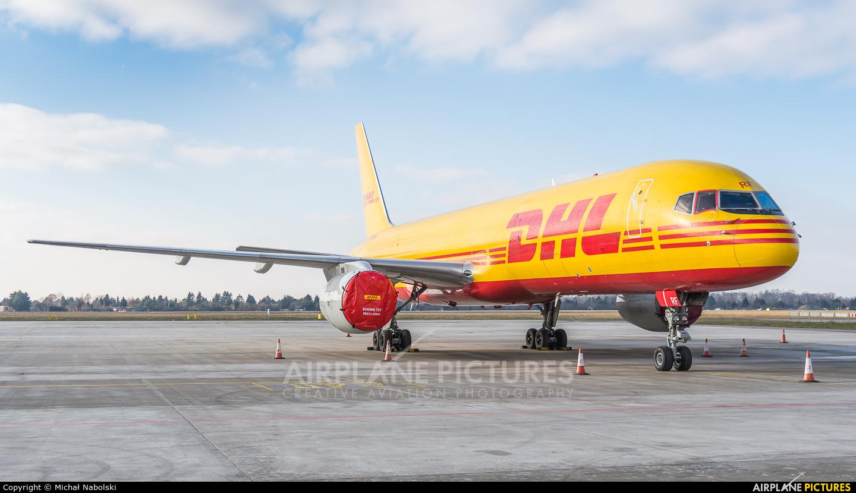 DHL Cargo G-BMRF aircraft at Warsaw - Frederic Chopin