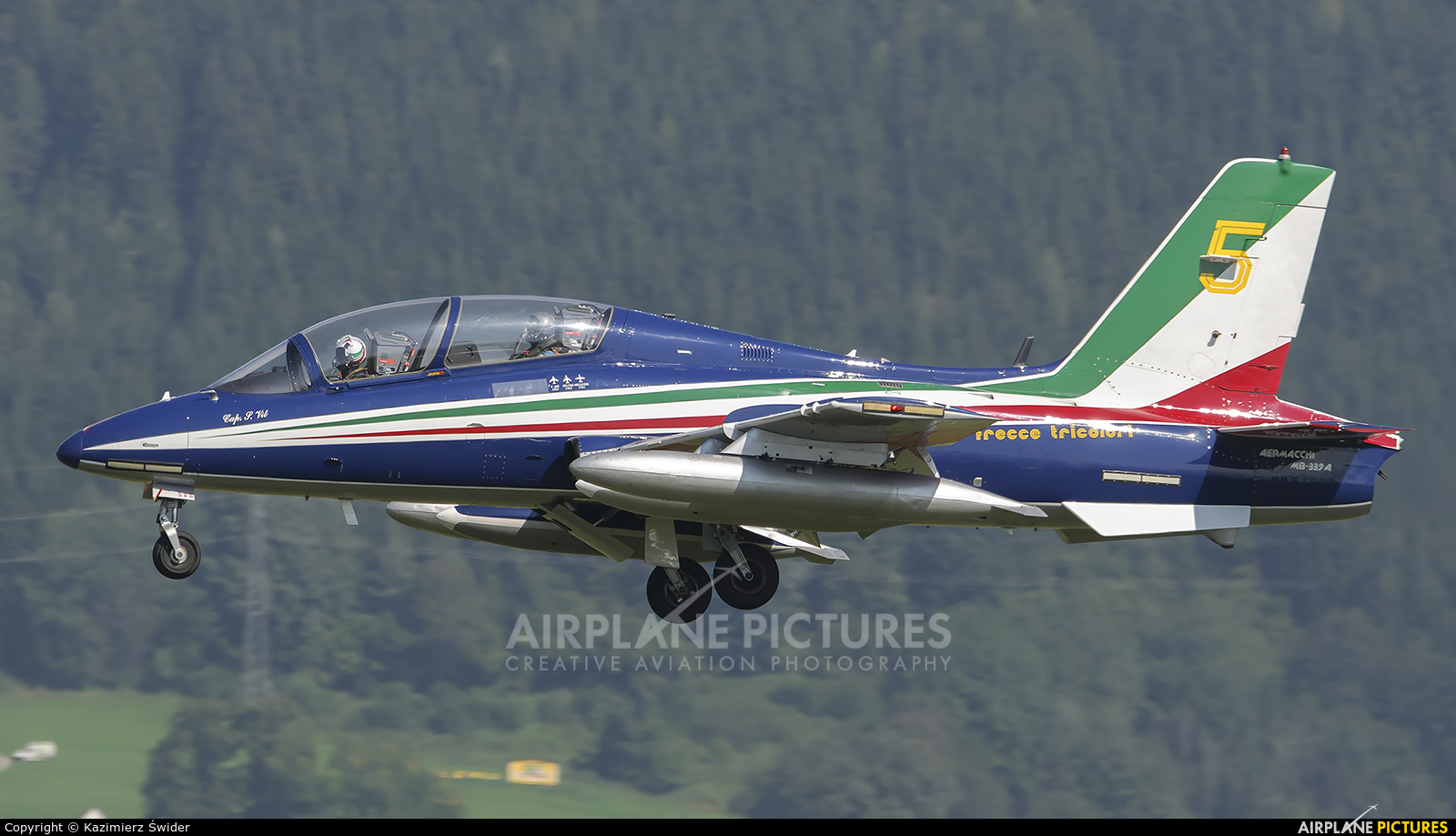 "Italy - Air Force ""Frecce Tricolori"" MM54473 aircraft at Zeltweg"