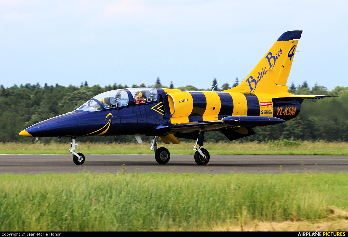 Baltic Bees Jet Team YL-KSM aircraft at Florennes