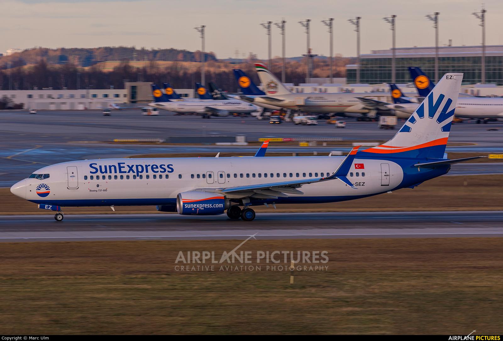 SunExpress TC-SEZ aircraft at Munich