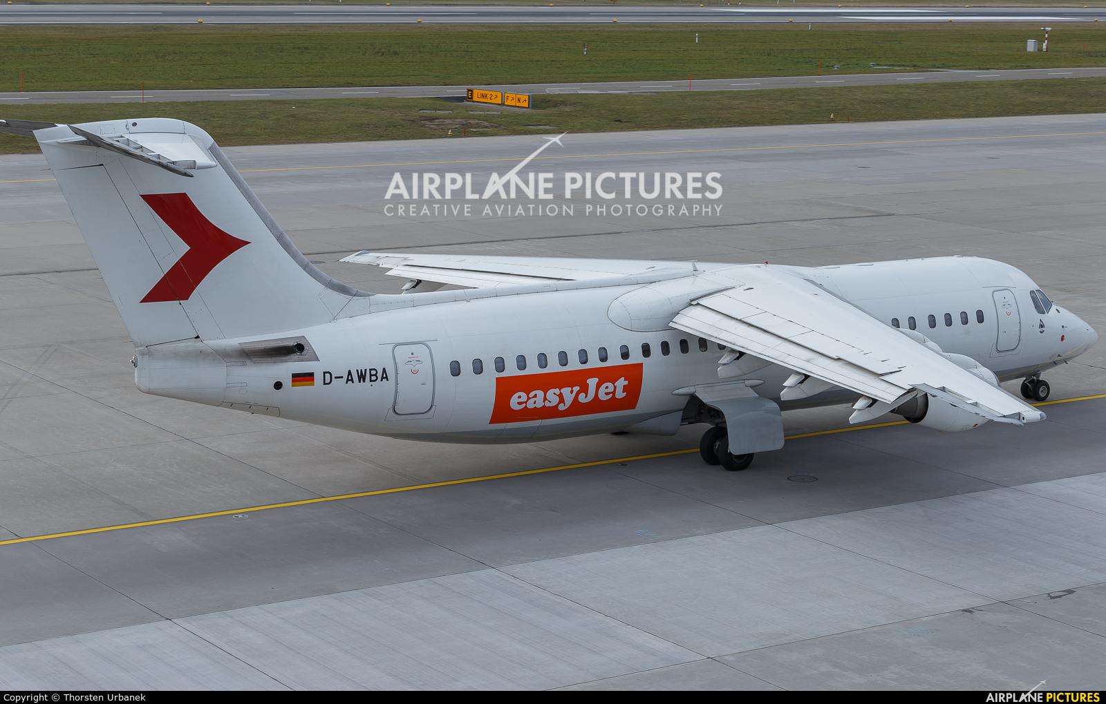 easyJet D-AWBA aircraft at Zurich