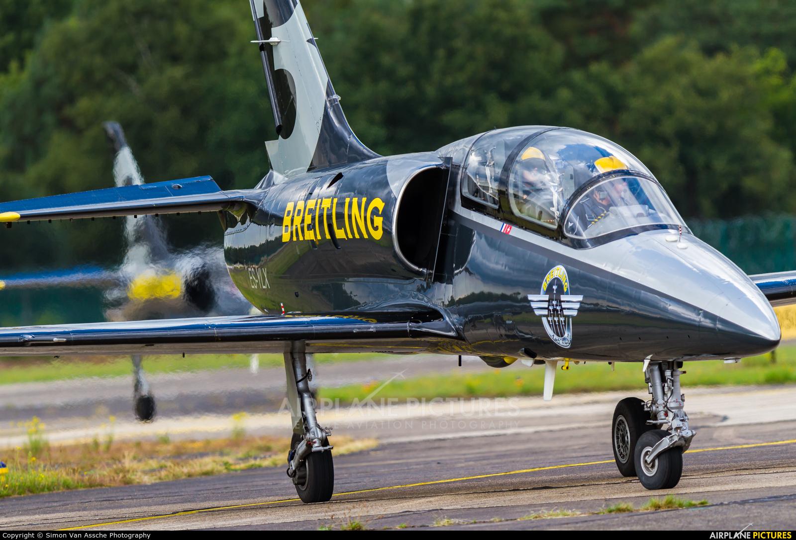 Breitling Jet Team ES-YLX aircraft at Kleine Brogel