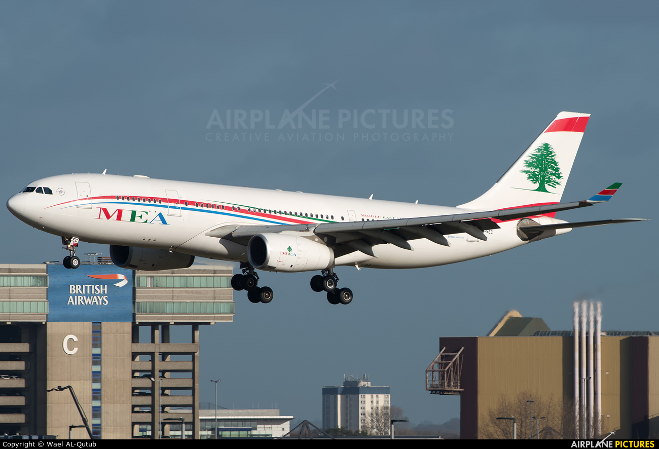 MEA - Middle East Airlines OD-MEC aircraft at London - Heathrow