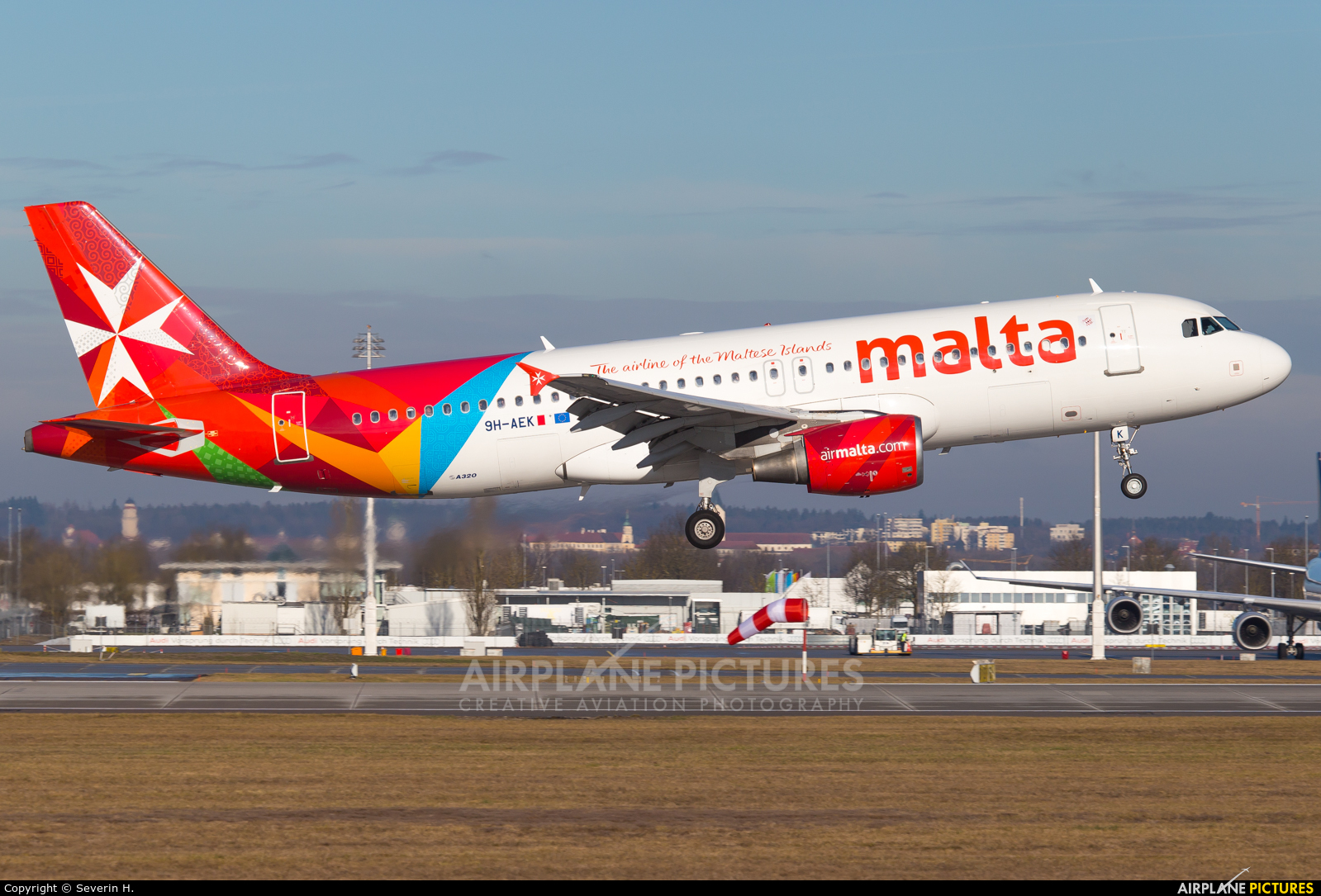 Air Malta 9H-AEK aircraft at Munich