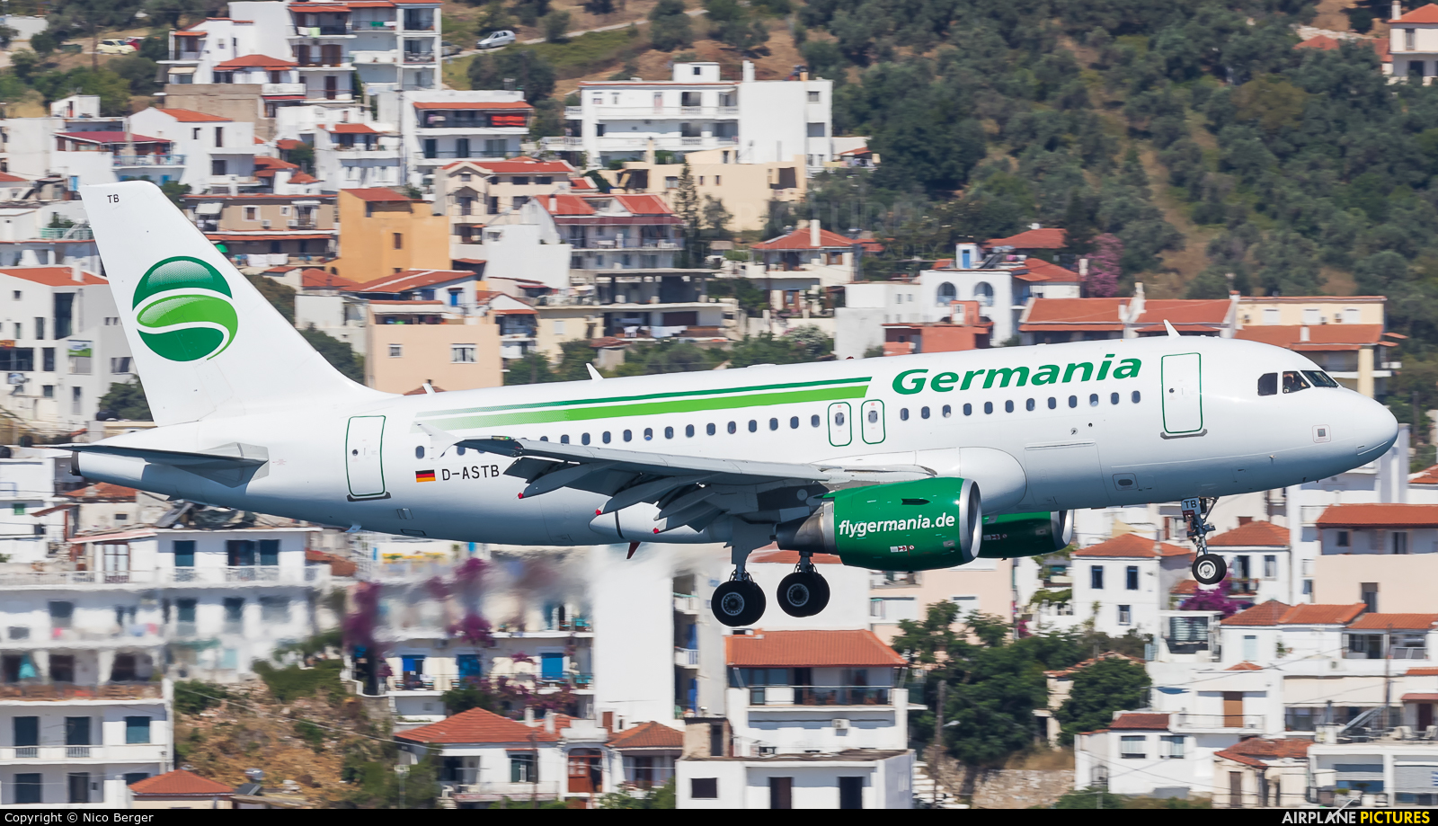 Germania D-ASTB aircraft at Skiathos
