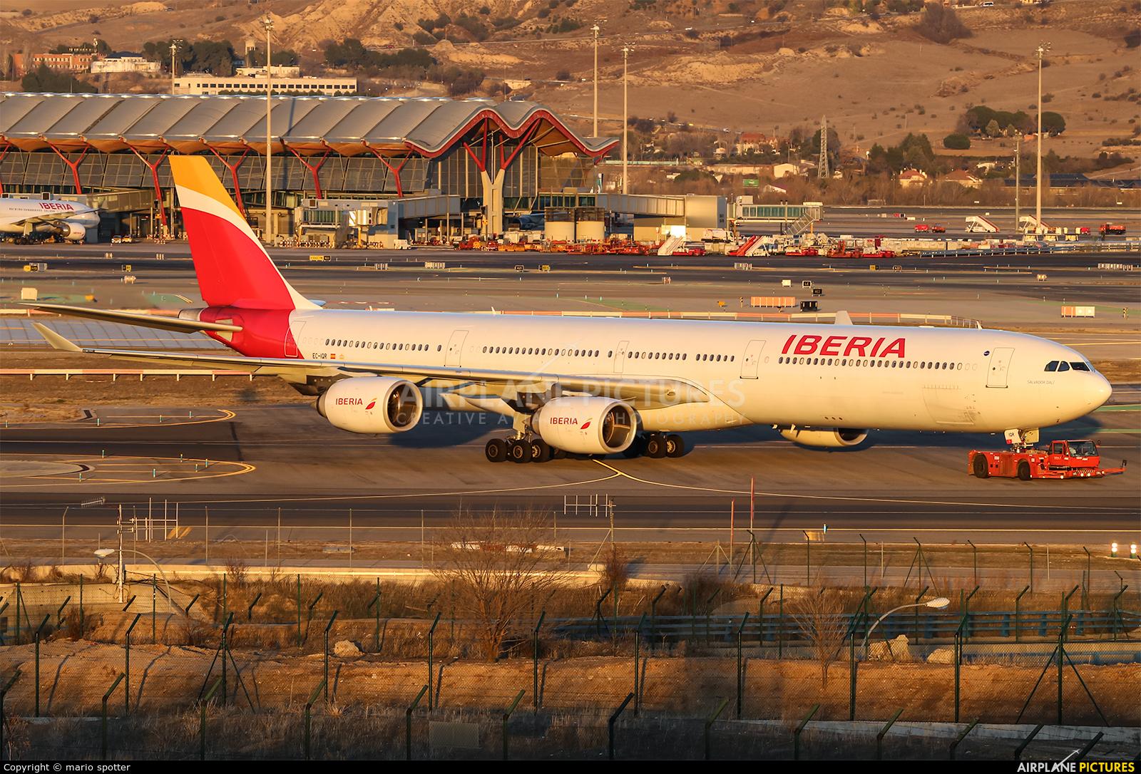 Iberia EC-IQR aircraft at Madrid - Barajas
