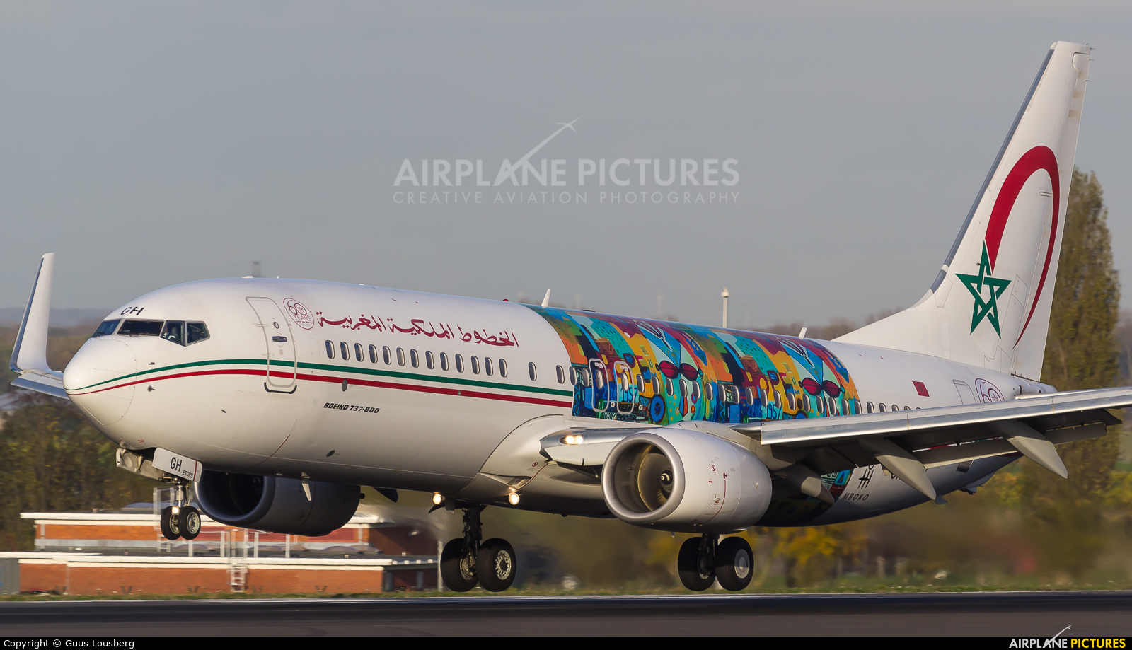 Royal Air Maroc CN-RGH aircraft at Brussels - Zaventem