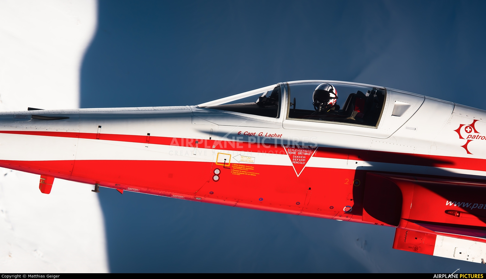 Switzerland - Air Force:  Patrouille de Suisse J-3088 aircraft at Off Airport - Swiss Alps