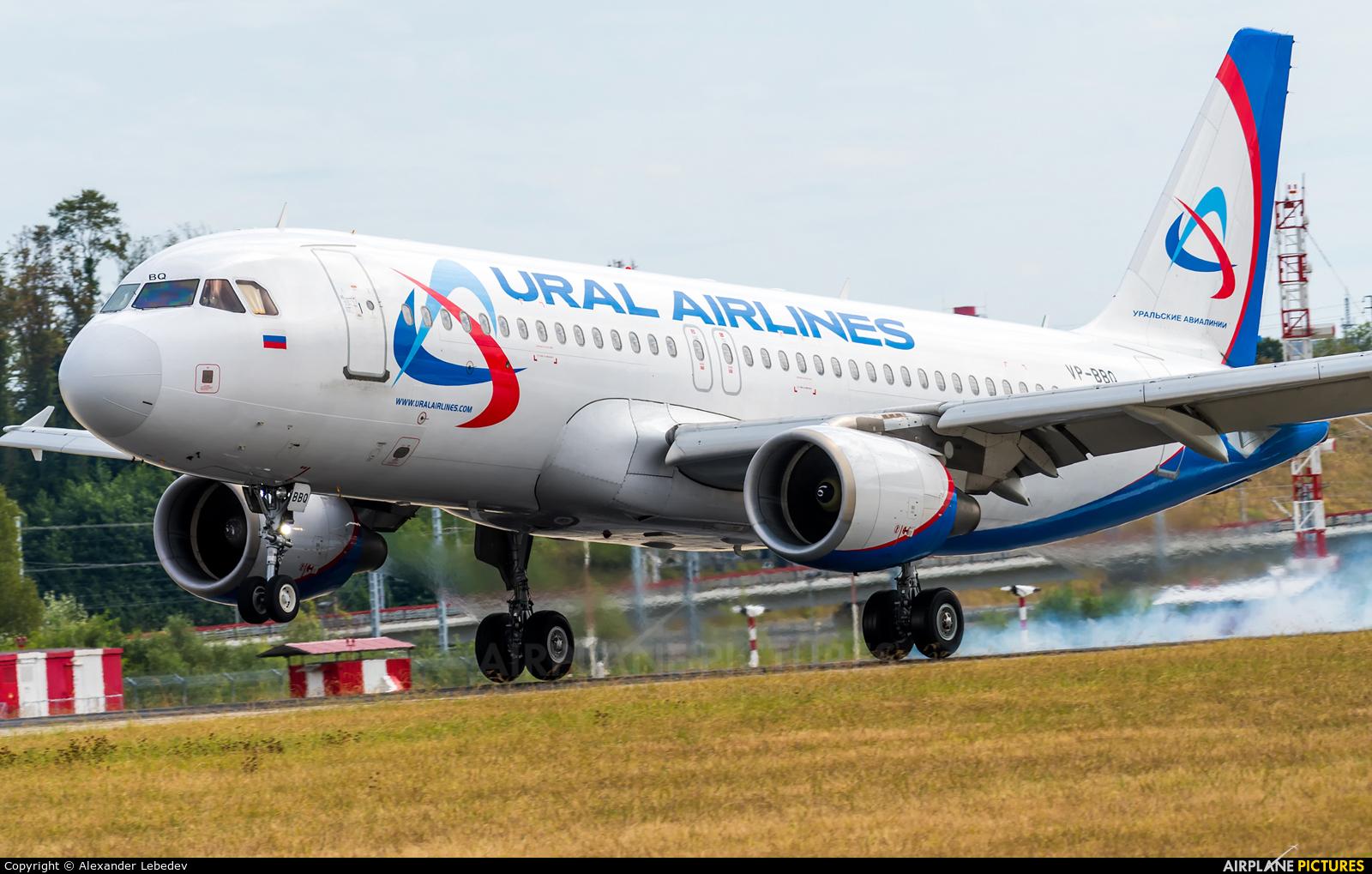 Ural Airlines VP-BBQ aircraft at Sochi Intl