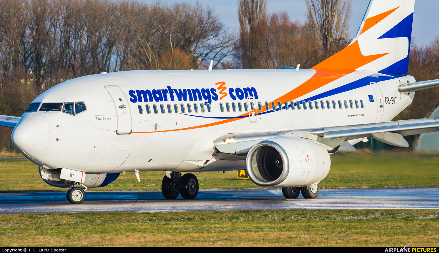 SmartWings OK-SWT aircraft at Pardubice