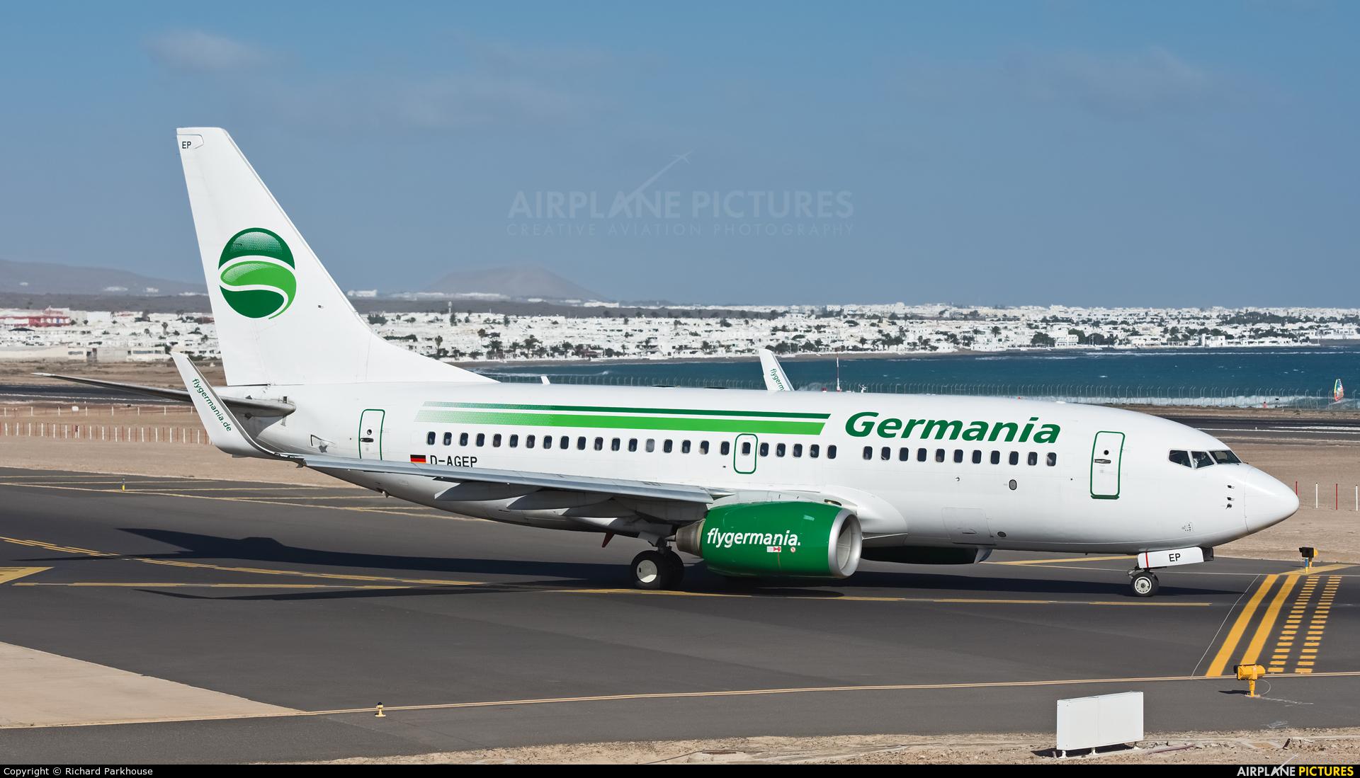 Germania D-AGEP aircraft at Lanzarote - Arrecife