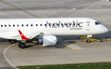 HB-JVP - Helvetic Airways Embraer ERJ-190 (190-100)