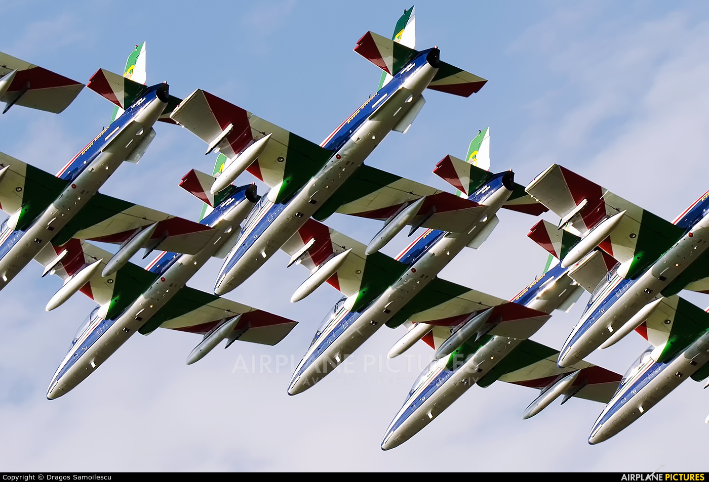 "Italy - Air Force ""Frecce Tricolori"" 3 aircraft at Zeltweg"