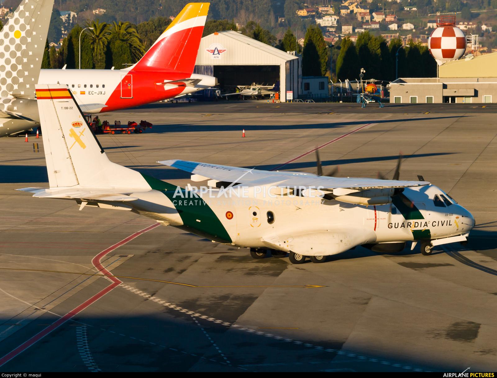 Spain - Guardia Civil T.19B-22 aircraft at La Coruña