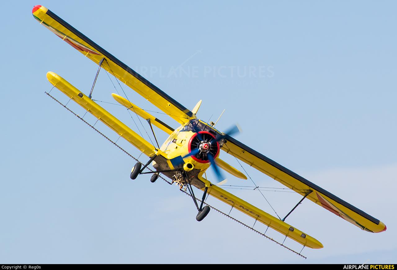 Private HA-MES aircraft at Szeged