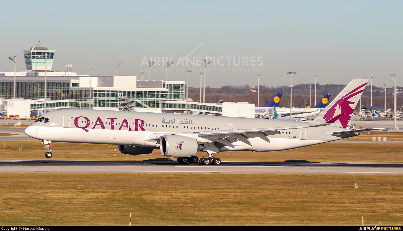 Qatar Airways A7-ALD aircraft at Munich
