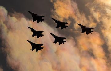 "- - Russia - Air Force ""Russian Knights"" Sukhoi Su-30SM"
