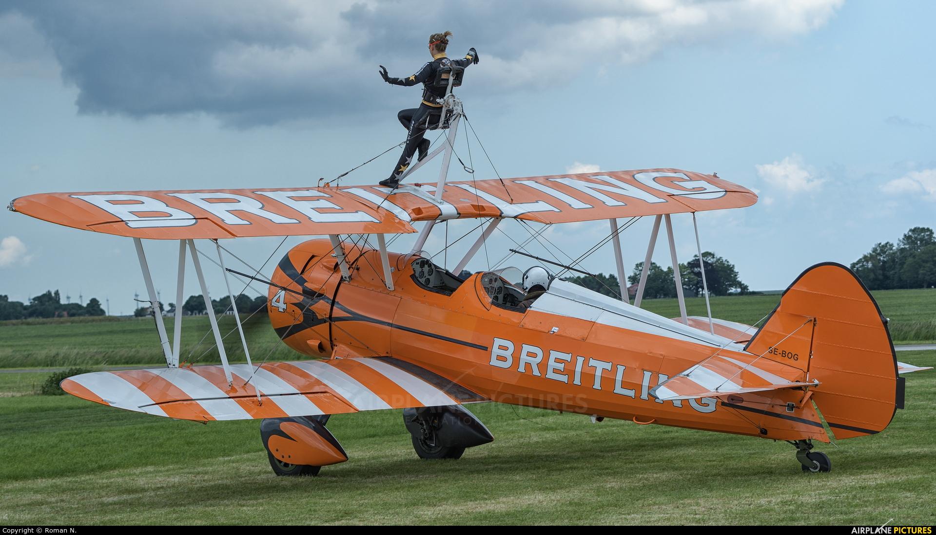 Breitling Wingwalkers SE-BOG aircraft at Oostwold