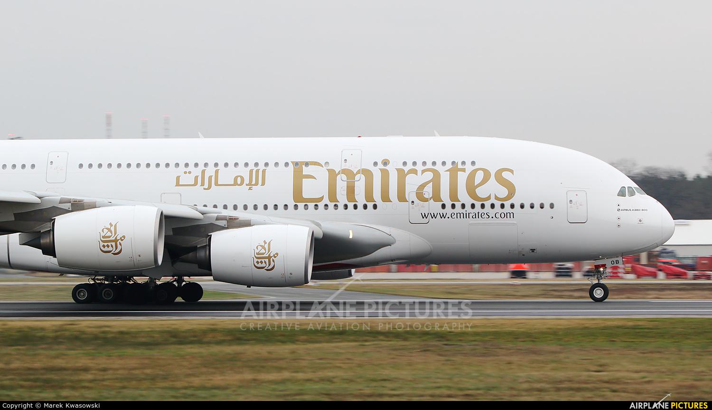 Emirates Airlines A6-EOB aircraft at Frankfurt