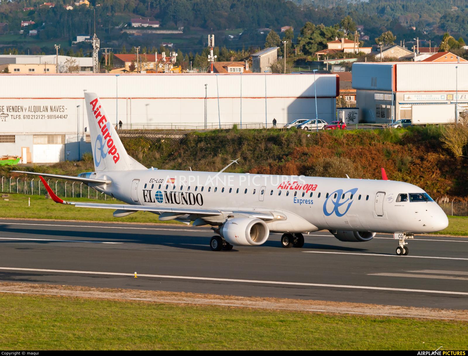 Air Europa EC-LCQ aircraft at La Coruña
