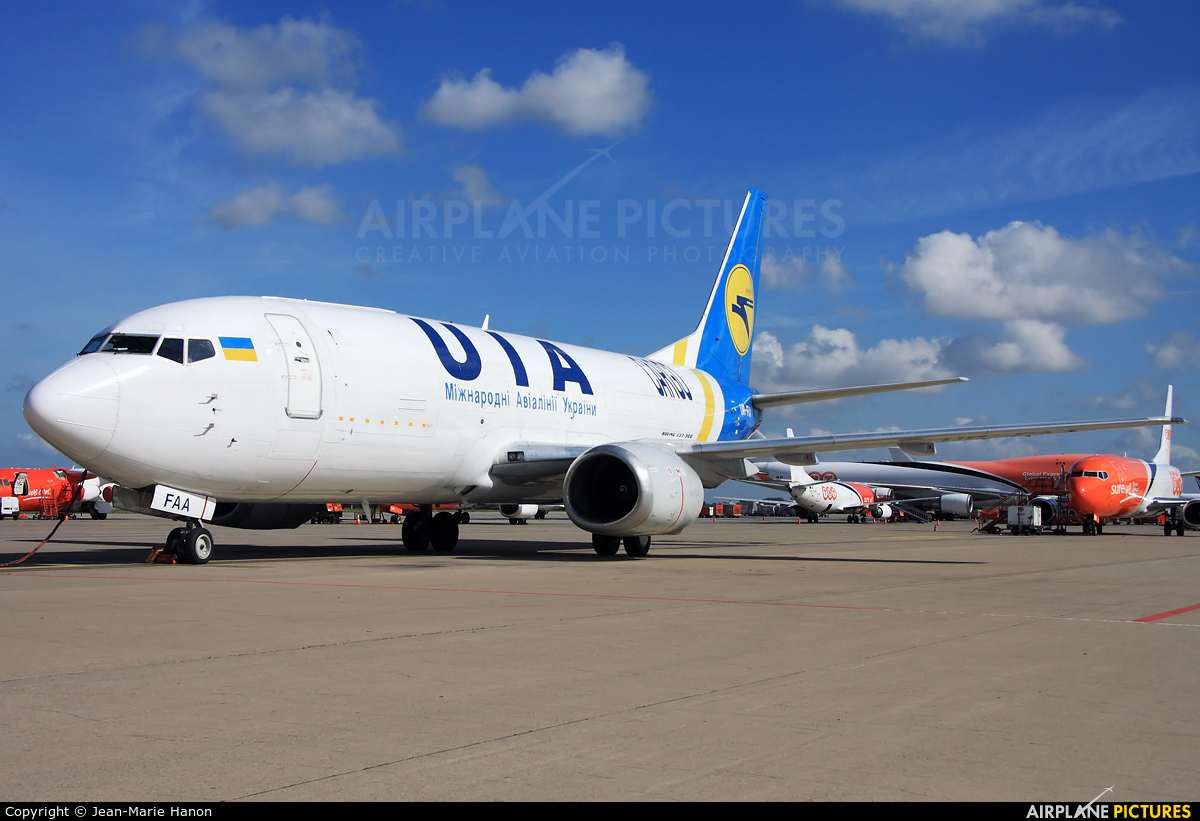 Ukraine International Airlines UR-FAA aircraft at Liège-Bierset