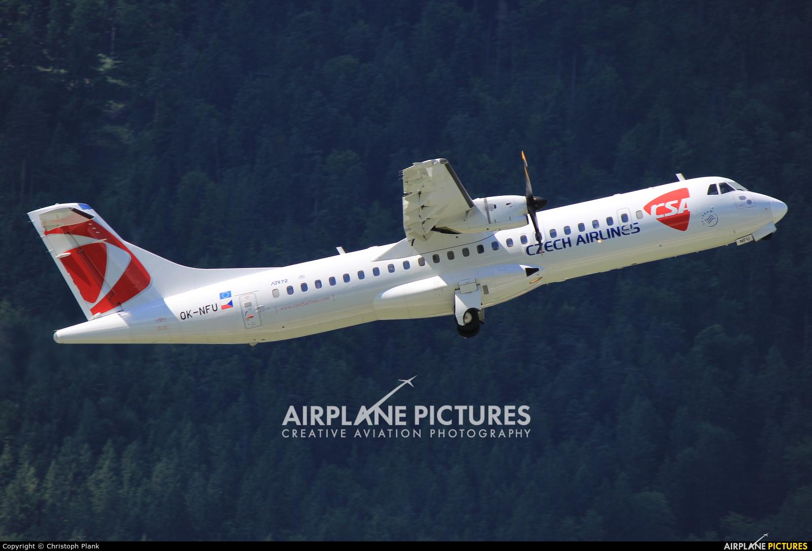 CSA - Czech Airlines OK-NFU aircraft at Innsbruck