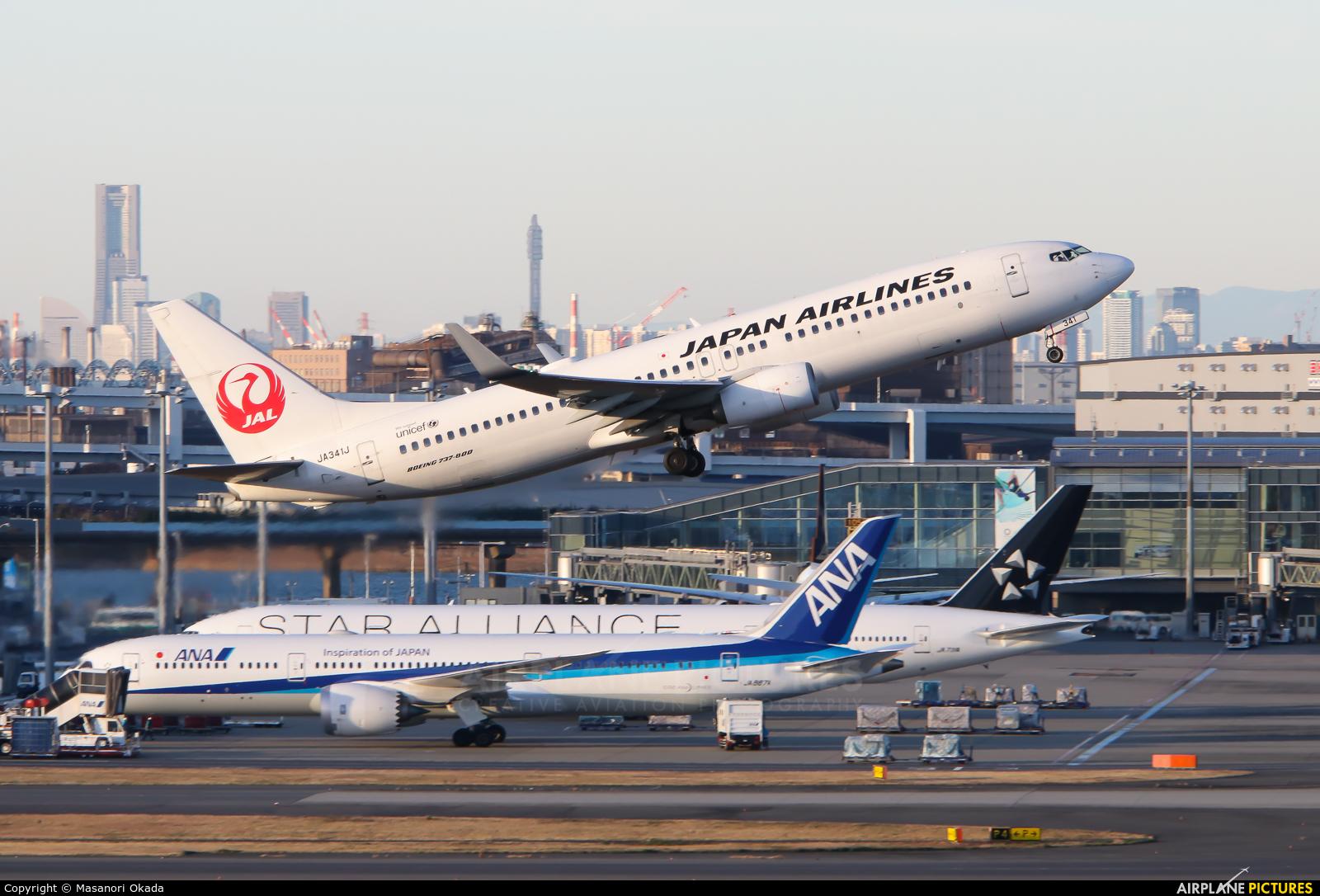 JAL - Japan Airlines JA341J aircraft at Tokyo - Haneda Intl