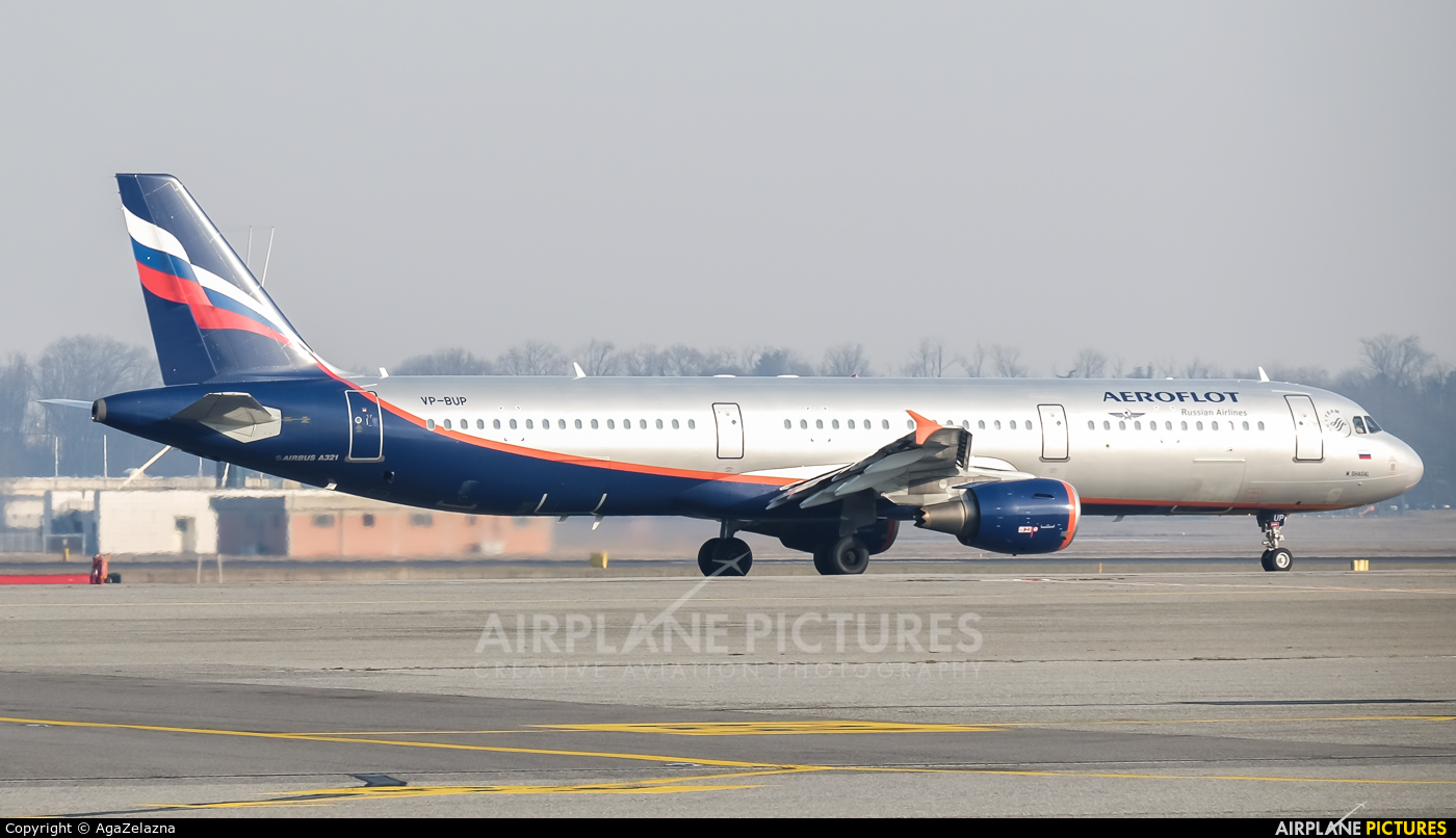 Aeroflot VP-BUP aircraft at Milan - Malpensa