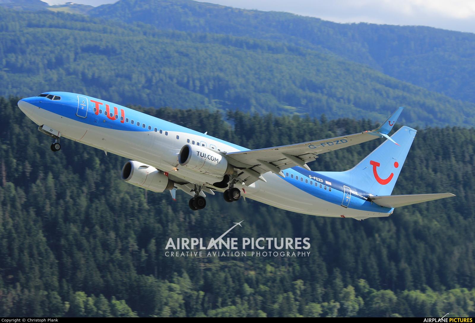 TUI Airways G-FDZD aircraft at Innsbruck