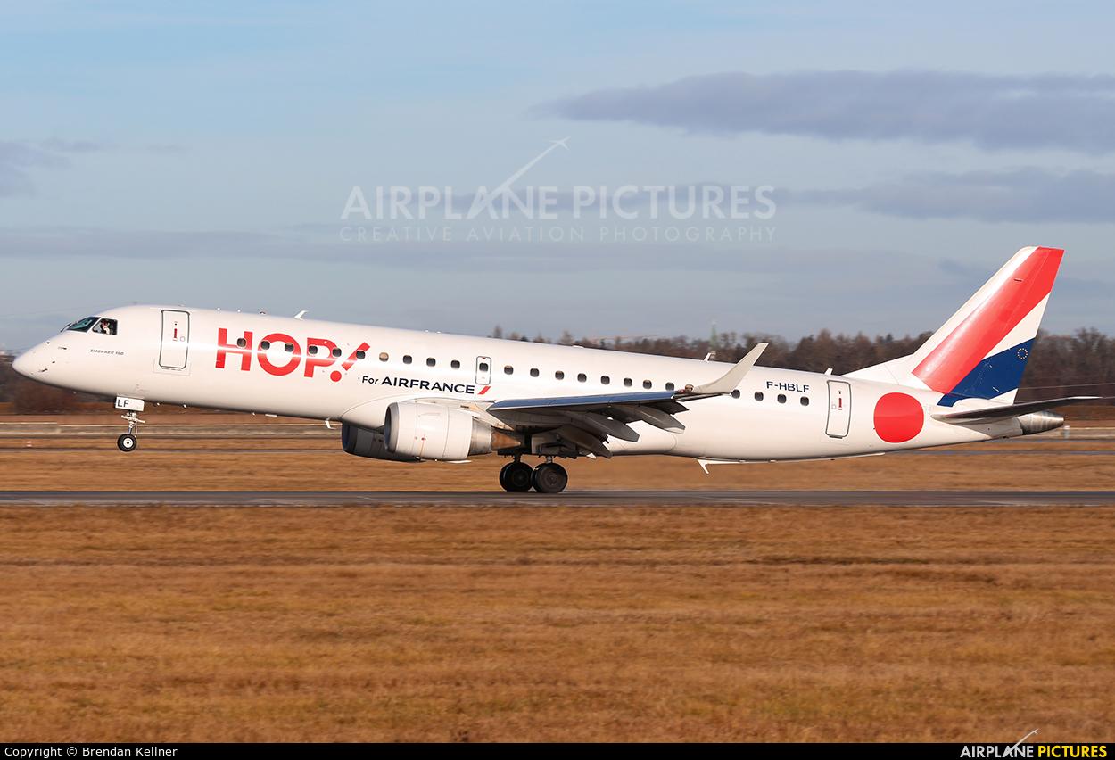 Air France - Hop! F-HBLF aircraft at Stuttgart