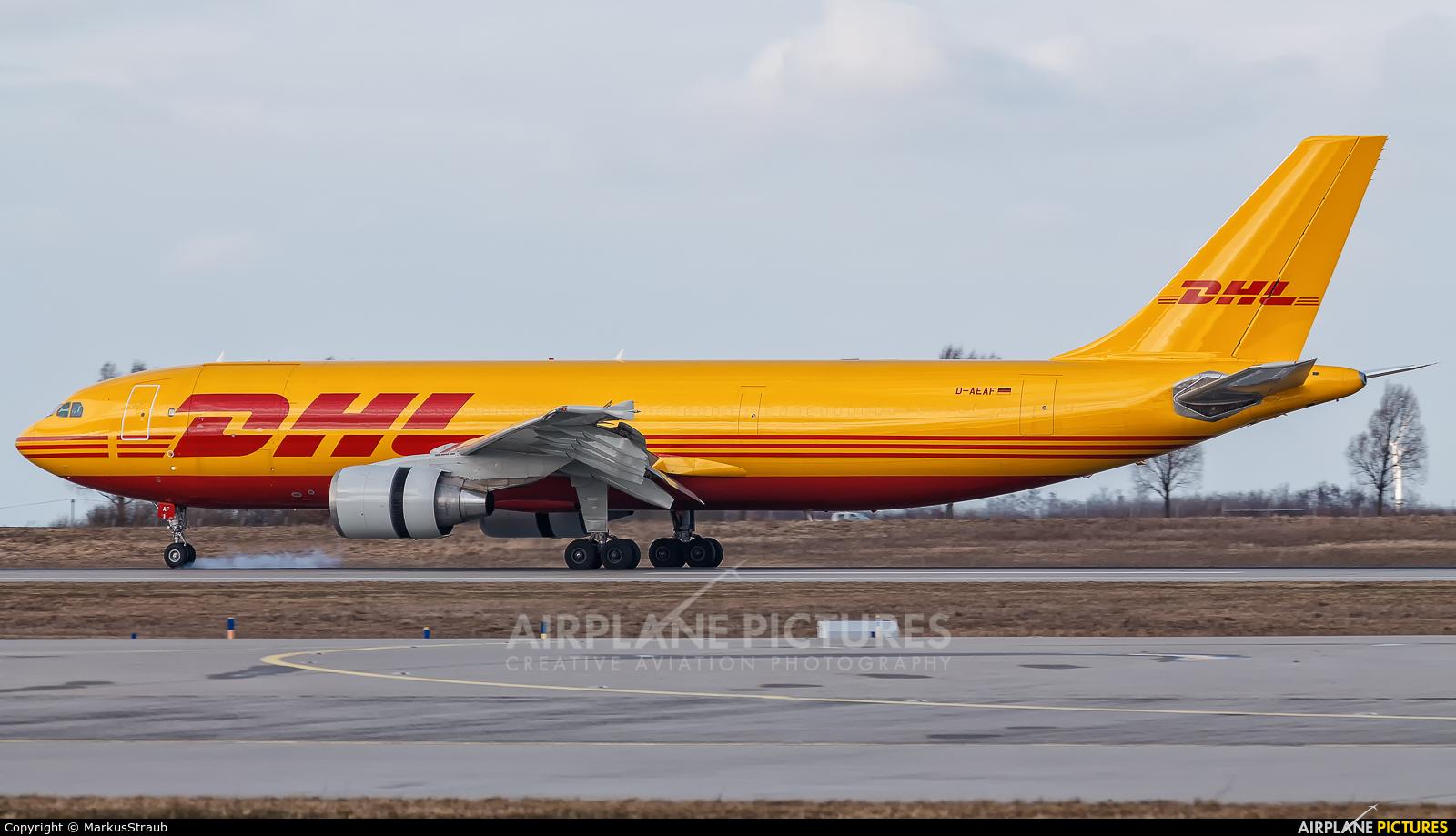DHL Cargo D-AEAF aircraft at Leipzig - Halle