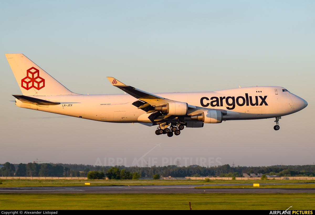 Cargolux LX-JCV aircraft at Novosibirsk